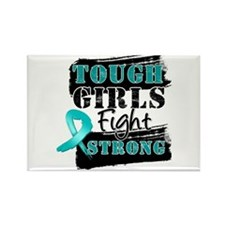 Tough Girls Peritoneal Cancer Rectangle Magnet