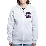Tough Girls Pancreatic Cancer Women's Zip Hoodie