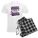Tough Girls Pancreatic Cancer Men's Light Pajamas