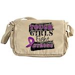 Tough Girls Pancreatic Cancer Messenger Bag