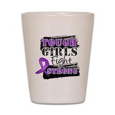 Tough Girls Pancreatic Cancer Shot Glass