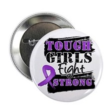 "Tough Girls Pancreatic Cancer 2.25"" Button"