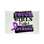 Tough Girls Pancreatic Cancer Rectangle Magnet