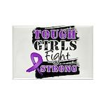 Tough Girls Pancreatic Cancer Rectangle Magnet (10