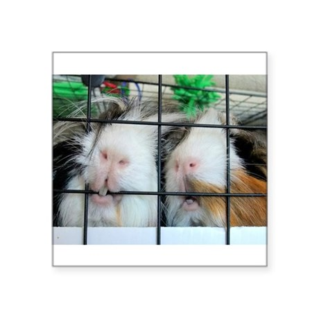 "Piggie Lips Square Sticker 3"" x 3"""
