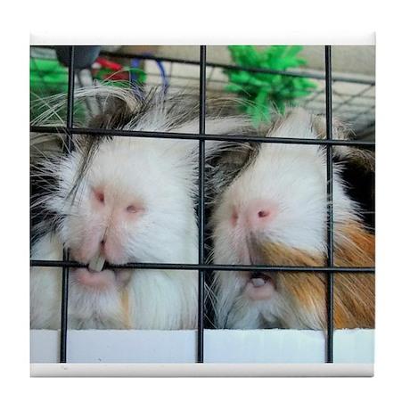 Piggie Lips Tile Coaster