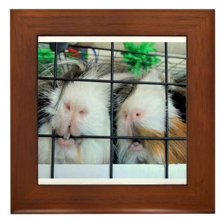 Piggie Lips Framed Tile