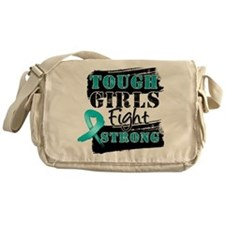 Tough Girls Ovarian Cancer Messenger Bag