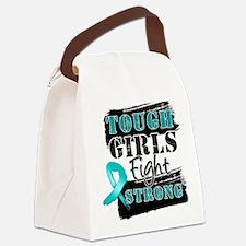 Tough Girls Ovarian Cancer Canvas Lunch Bag