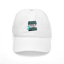 Tough Girls Ovarian Cancer Baseball Baseball Cap
