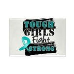 Tough Girls Ovarian Cancer Rectangle Magnet (10 pa