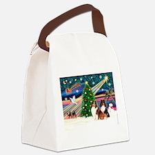 Xmas Magic/2 Shelties (p3) Canvas Lunch Bag