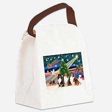 Xmas Magic/3 Shelties (T3) Canvas Lunch Bag