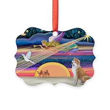 Xmas Star & Shiba Inu Ornament