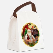 Santa's Shih Tzu (Paddy) Canvas Lunch Bag