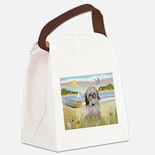 Beach with Shih Tzu Canvas Lunch Bag