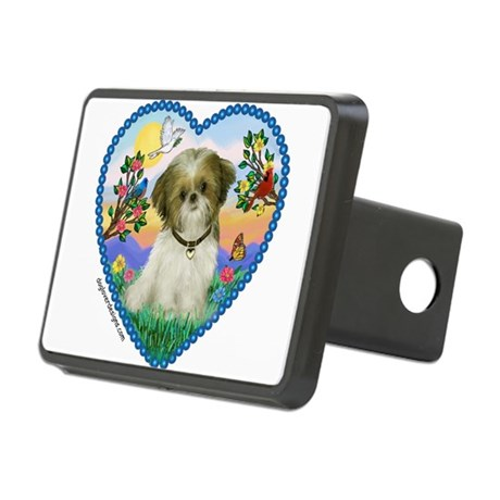 Shih Tzu in my heart (P) Rectangular Hitch Cover
