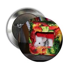 """Mouse in a house. 2.25"""" Button"""