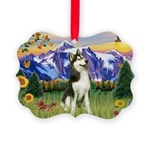 Mt Country & Husky Picture Ornament