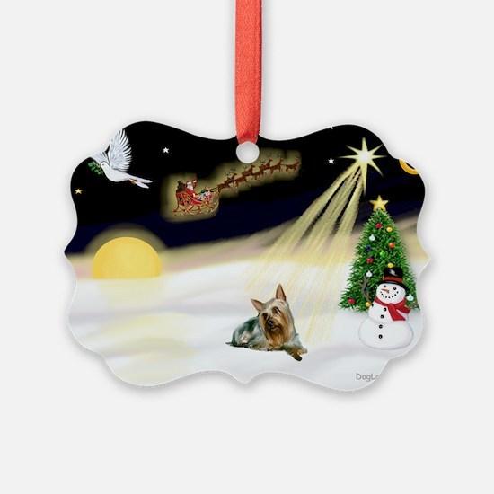 Night Flight/Silky Ter #14 Ornament