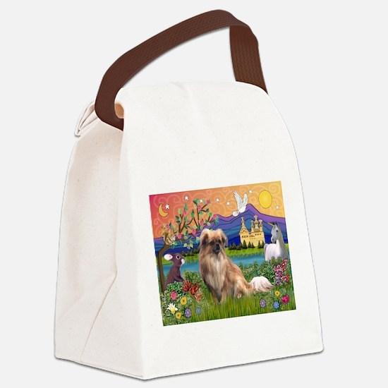 Tibetan Spaniel in Fantasy La Canvas Lunch Bag