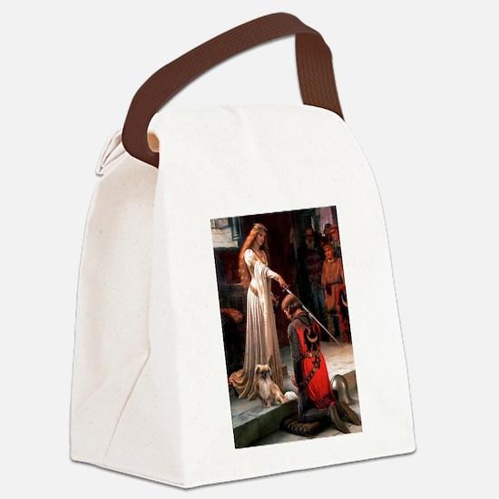 Accolade / Tibetan Spaniel Canvas Lunch Bag