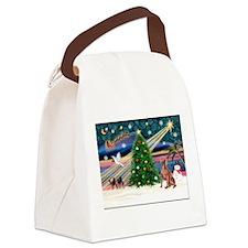XmasMagic/Weimaraner 4 Canvas Lunch Bag