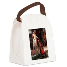 Princess & Weimaraner Canvas Lunch Bag