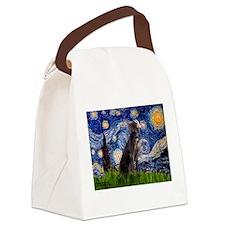 Starry Night Weimaraner Canvas Lunch Bag