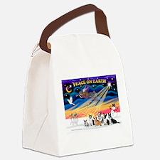 XmasSunrise/6 Corgis Canvas Lunch Bag