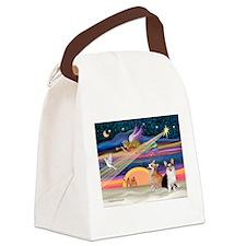 XmasStar/2 Corgis (P1) Canvas Lunch Bag