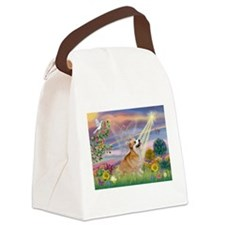 Cloud Angel & Corgi (Pem) Canvas Lunch Bag