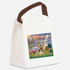 Cloud Angel & Yorkie Canvas Lunch Bag