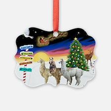 Xmas Signs - Three Llamas.png Ornament