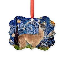 Starry Night Llama Ornament