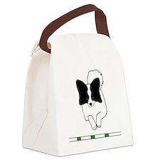 Black Papillon Canvas Lunch Bag