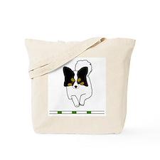 Tri-Color Papillon Tote Bag