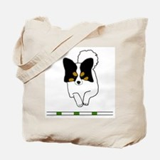 Tri-Color Papillon Tote Bag