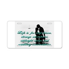 Deep Kisses Aluminum License Plate