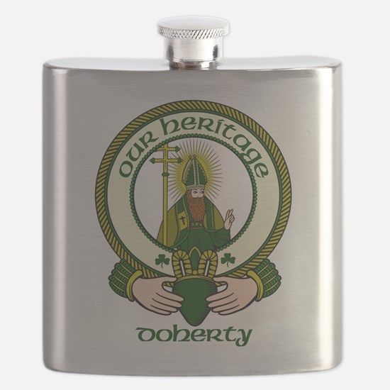 Doherty Clan Motto Flask