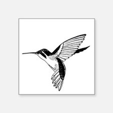 "Hummingbird Lineart Square Sticker 3"" x 3"""