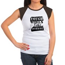 Tough Girls Lung Cancer Women's Cap Sleeve T-Shirt