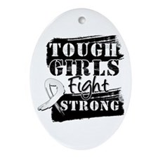 Tough Girls Lung Cancer Ornament (Oval)