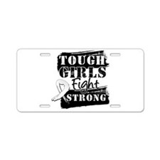Tough Girls Lung Cancer Aluminum License Plate