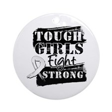 Tough Girls Lung Cancer Ornament (Round)