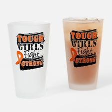 Tough Girls Leukemia Drinking Glass