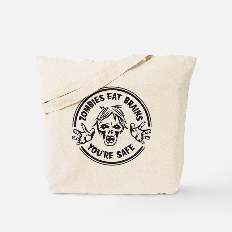 Zombies Eat Brains! Tote Bag