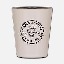 Zombies Eat Brains! Shot Glass