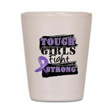 Tough Girls Hodgkin Disease Shot Glass