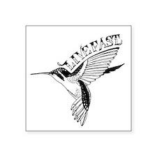 """Hummingbird Live Fast Square Sticker 3"""" x 3"""""""